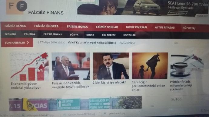 Faizsiz finans haber portalı yayına girdi