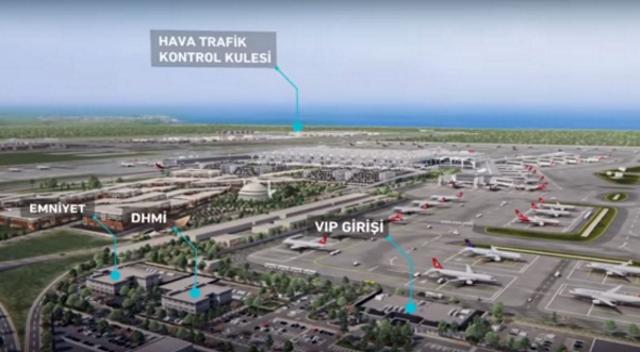 İşte 3. havalimanının animasyon filmi
